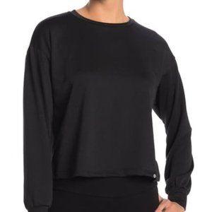 Circle X Crew Neck Sweatshirt in Black Size Large